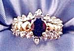 10K Yellow Gold Sapphire and Diamond Ring - Size 6.5 (Image1)