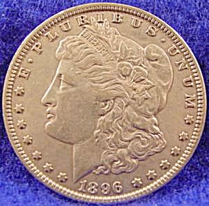 Morgan Type Silver Dollar Coin 1896 (Image1)