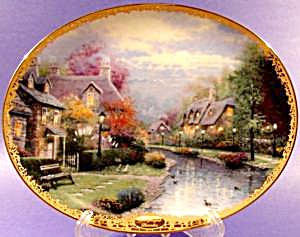 Thomas Kincaid Collector Plate 8744c - Mib - 1st Issue