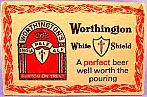 Beer Tavern Coaster Mat - Worthington - U.K. - Vintage (Image1)