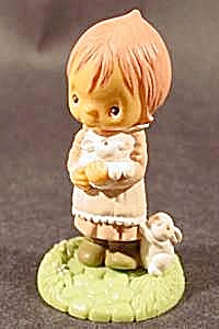 Child With Bunnies - Hallmark Easter 1982 (Image1)