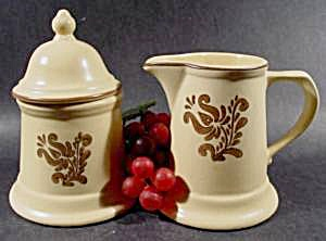 Pfaltzgraff Village Sugar and Creamer Set - Retired (Image1)