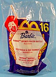 Barbie Sports Water Bottle - 2000 - Happy Meal - Mip