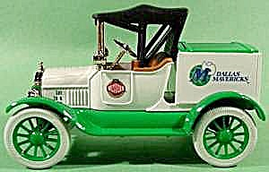 Dallas Mavericks 1918 Model T Ford Diecast Bank - Mib