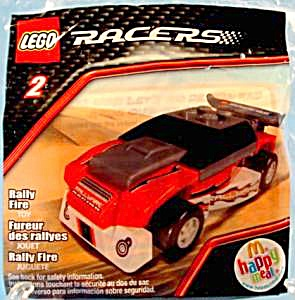 Lego Rally Fire Racer #2 - Happy Meal Toy -2009 - Mip