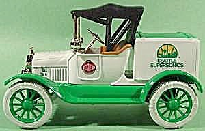Seattle Supersonics 1918 Model T Ford Diecast Bank - Mib