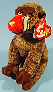 Cheeks The Monkey - 1999 - Ty Beanie Babies