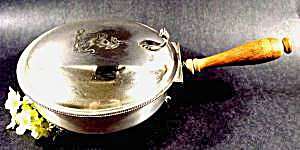 Silverplate Silent Butler - Tri-footed - Wood Handle