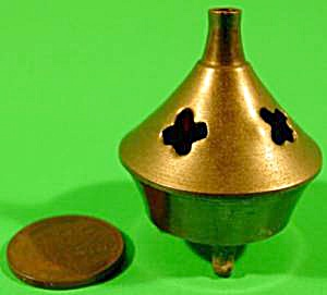 Brass Censer Incense Burner - Doll House Mini - Vintage