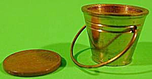 Doll House Miniature Brass Pail Bucket - Vintage