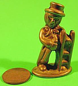 Doll House Miniature Brass Chimney Sweep - Vintage