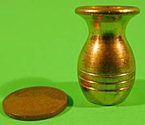 Doll House Miniature Brass Vase - Vintage