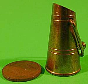 Doll House Miniature Brass Pitcher - Vintage