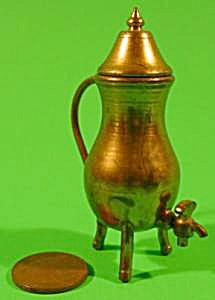 Doll House Miniature Brass Coffee Urn - Vintage