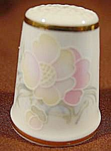 Pale Pastel Floral Thimble - Royal Court - England