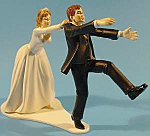 Wilton Humerous Wedding Cake Topper - Oh No You Don't (Image1)