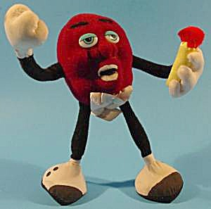 California Raisin Plush - Tiny Goodbite - 1988 Calrab