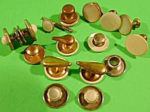 Shirt Stud and Cuff Link Odd Lot Vintage Assortment (Image1)