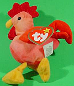 TY Teenie Beanie - Strut the Rooster - 1993 (Image1)