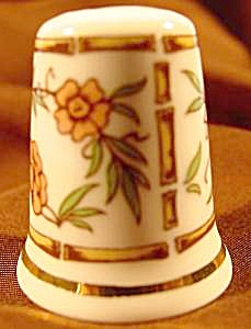 Bone China Bamboo Thimble - Tcc - 1986 England
