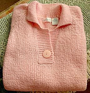 Ladies Pullover Sweater - Pink - Lauren Brooke 20w/40w