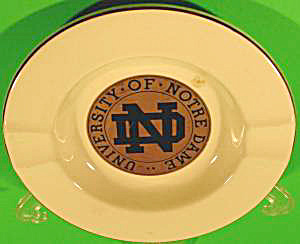 Ashtray - University Of Notre Dame - Ceramic - Vintage