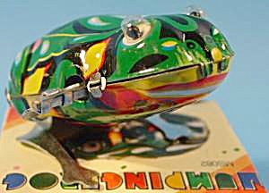 Jumping Frog Wind-up Tin Lithograph Toy - NIB (Image1)