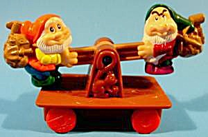 Snow White -1992 - Happy And Grumpy On Seesaw Car