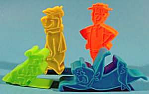 Jetson's Stampers - Set Of 4 Pcs - Plastic Vintage