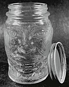 Vintage 1930's Lucky Joe Glass Bank Mustard Jar