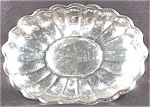 Click here to enlarge image and see more about item AAA109: Silverplate Oval Scalloped Tray