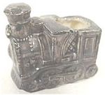 Click here to enlarge image and see more about item AAA130: Ceramic Locomotive Toothpick ~ 1980 ~