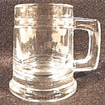 Click here to enlarge image and see more about item AAA137a: Clear Heavy Mug Style Shot Glass