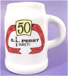 Click here to enlarge image and see more about item AAA138: G.L. Perry 50th Anniversary Toothpick Holder 1939-1989