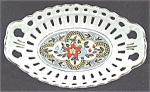 Click here to enlarge image and see more about item AAA156: Porcelain Reticulated Oval Bowl - Germany - Vintage