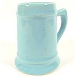 Aqua Pottery Mug Toothpick Holder