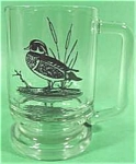 Click here to enlarge image and see more about item AAA212: Heavy Wildlife Glass Mugs - Ducks - Set of (4)