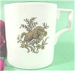 Click here to enlarge image and see more about item AAA214: Vintage Miniature Bone China Cup - Ram - England