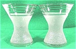 Vintage Designer Glass Cordials - Pair -