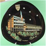 Click here to enlarge image and see more about item AAA264: Longwy Collector Plate - Hotel de Ville - Villerupt