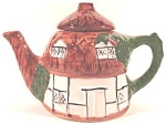 Click here to enlarge image and see more about item AAA287: Ceramic Cottage Teapot ~ Vintage