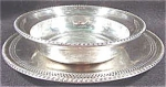Click here to enlarge image and see more about item AAA301: Silverplate Bowl with Underplate - Cheshire Silver