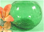 Click here to enlarge image and see more about item AAA310: Green Crackle Glass Rose Bowl