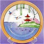 Click here to enlarge image and see more about item AAA311: Oriental Porcelain Lustre Plate - Japan