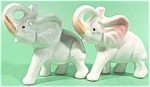 Click here to enlarge image and see more about item AAA321: Set of Porcelain Elephant Figurines - Japan
