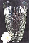 Click here to enlarge image and see more about item AAA366: Pressed Glass Diamond Quilted Pattern Vase - Large