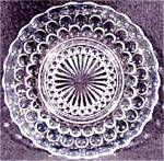 Click here to enlarge image and see more about item AAA374: Bubble Crystal Dessert Plate - Depression