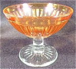 Click here to enlarge image and see more about item AAA37: Round Robin Iridescent Depression Glass Sherbet