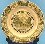 Click here to enlarge image and see more about item AAA385: Collector Plate ~ Missouri State Plate ~ Barton County
