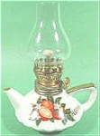 Click here to enlarge image and see more about item AAA399: Florida Souvenir Porcelain Oil Lamp ~ Japan